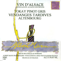 Alsace Grand Cru Altenbourg - Tokay Pinot Gtris , Vendanges tardives - Domaine Albert Mann.